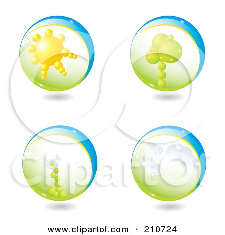 Royalty-Free (RF) Clipart Illustration of a Digital Collage Of 3d Life Spheres by MilsiArt