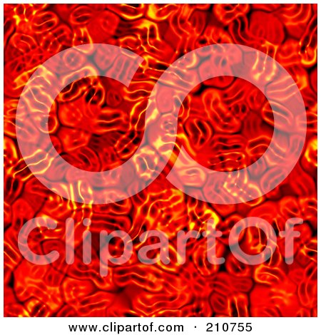 Royalty-Free (RF) Clipart Illustration of a Red Blood Cell Seamless Background by Arena Creative