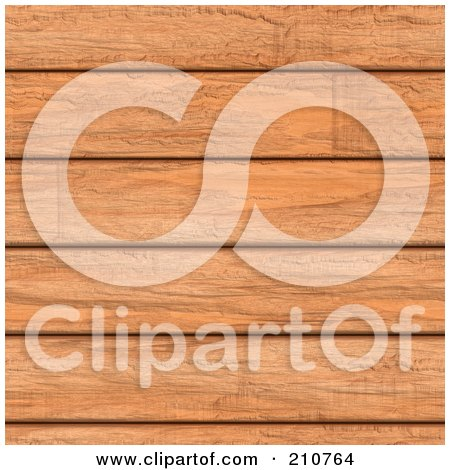 Royalty-Free (RF) Clipart Illustration of a Seamless Background Of Cherry Wooden Planks by Arena Creative
