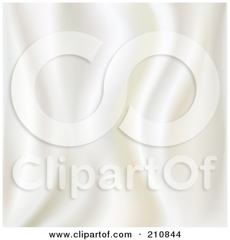 Royalty-Free (RF) Clipart Illustration of a Ripply White Silk Texture Background by Oligo