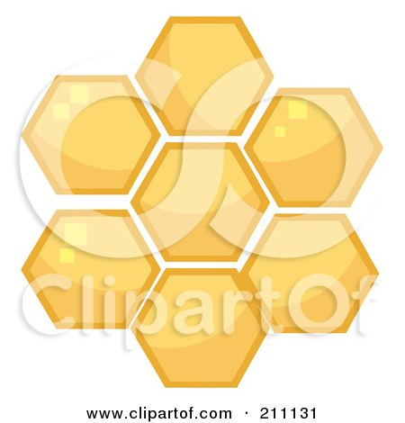 Royalty-Free (RF) Clipart Illustration of Honey Combs In A Hive by Hit Toon