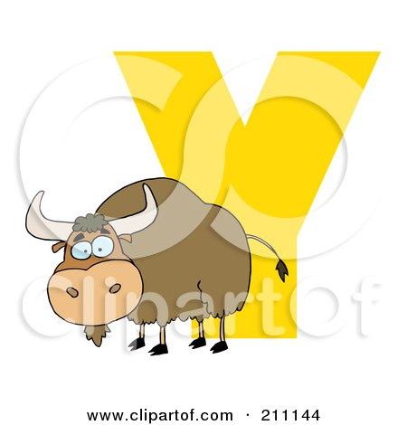 Letter Y With A Yak Posters, Art Prints
