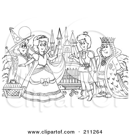 fairy graphic outline coloring pages | Royalty Free Stock Illustrations of Fairy Tales by Alex ...