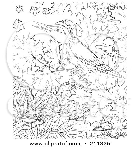 free winter tree coloring pages | Royalty-Free (RF) Clipart Illustration of a Coloring Page ...