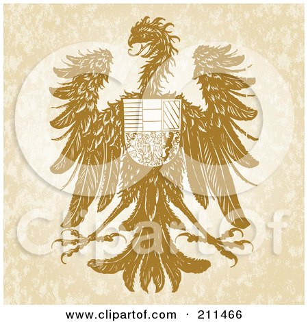 Royalty-Free (RF) Clipart Illustration of a Hawk Shield Design by BestVector