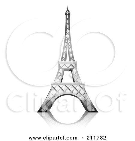 Printable Picture Eiffel Tower on 3d Eiffel Tower With A Reflection Posters  Art Prints By Oligo