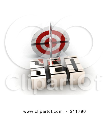 Royalty-Free (RF) Clipart Illustration of a 3d SEO And Target by MacX
