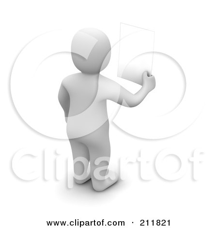 Royalty-Free (Rf) Clipart Illustration Of A 3D Blanco Man Facing