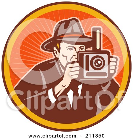 Royalty-Free (RF) Clipart Illustration of a Photography Logo by patrimonio