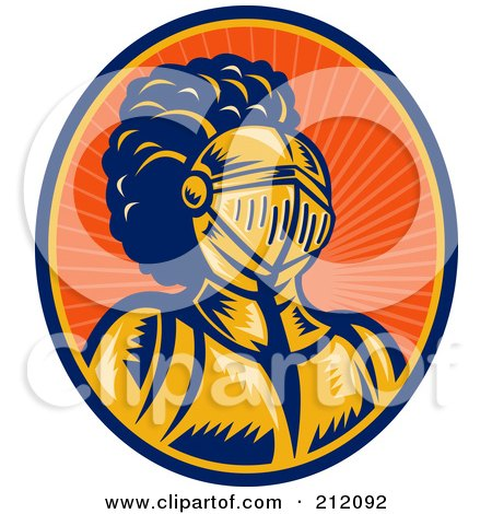 Royalty-Free (RF) Clipart Illustration of a Knight Logo by patrimonio