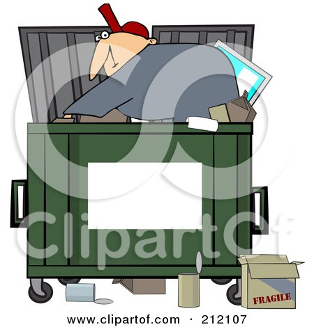 Royalty-Free (RF) Dumpster Clipart, Illustrations, Vector Graphics #1