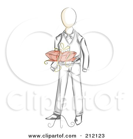 Royalty-Free (RF) Clipart Illustration of a Sketched Ring ...