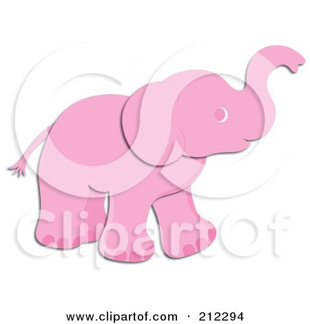 Cute pink elephant - photo#18