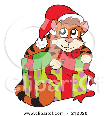 Royalty-Free (RF) Christmas Cats Clipart, Illustrations, Vector ...