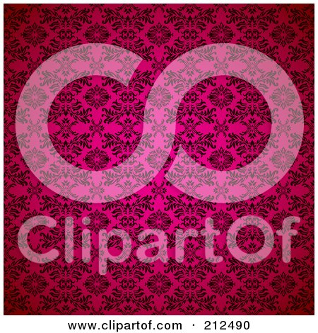 Royalty-Free (RF) Clipart Illustration of a Pink Seamless Gothic Pattern Background by michaeltravers