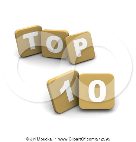 Royalty-Free (RF) Clipart Illustration of 3d Tan Blocks Spelling TOP 10 by Jiri Moucka