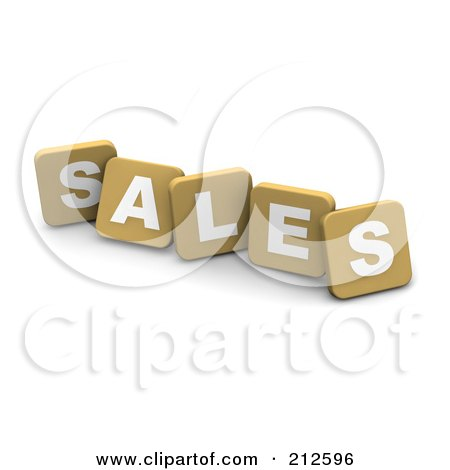 Royalty-Free (RF) Clipart Illustration of 3d Tan Blocks Spelling SALES by Jiri Moucka