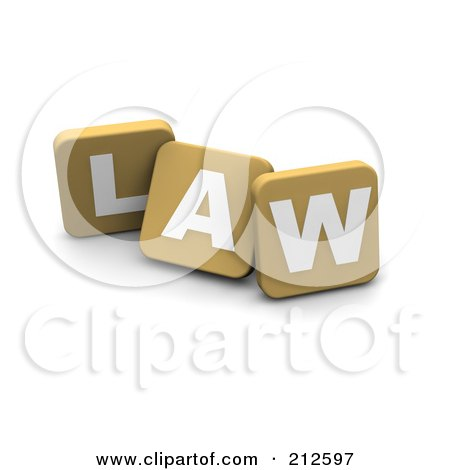 Royalty-Free (RF) Clipart Illustration of 3d Tan Blocks Spelling LAW by Jiri Moucka