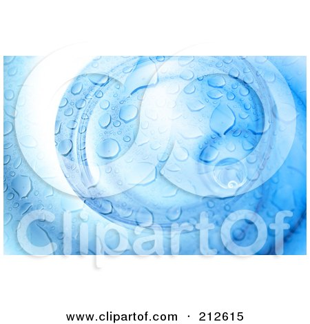Royalty-Free (RF) Clipart Illustration of a Swirl Of Blue Water Droplets by Arena Creative