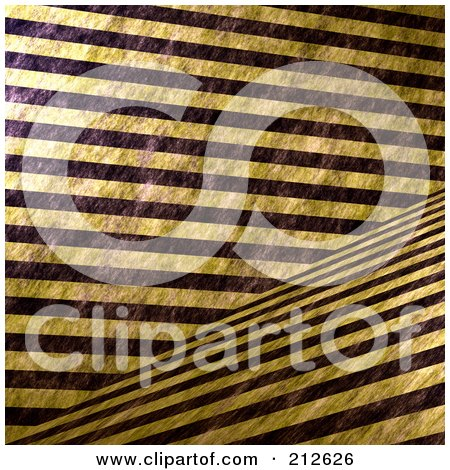 Royalty-Free (RF) Clipart Illustration of a Background Of Grungy Thick Yellow And Black Hazard Stripes Crossing by Arena Creative