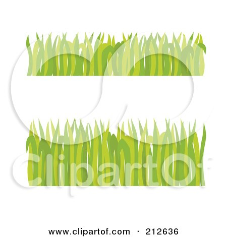 Royalty-Free (RF) Clipart Illustration of a Digital Collage Of Two Borders Of Green Grass Blades by Cherie Reve