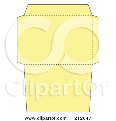 Royalty-Free (RF) Clipart Illustration of a Yellow Envelope Folding Design Template by Cherie Reve