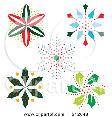 Royalty-Free (RF) Christmas Snowflake Clipart, Illustrations ...