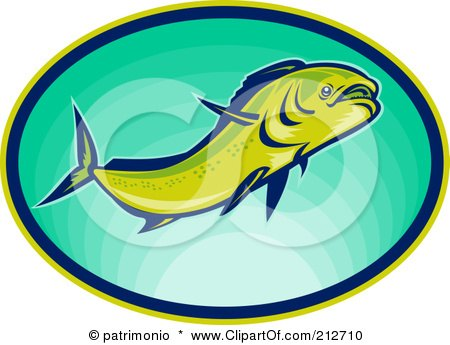 Royalty-Free (RF) Clipart Illustration of a Swimming Fish Logo by patrimonio