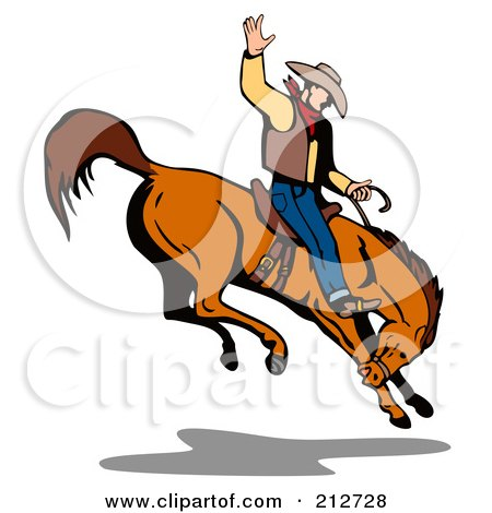 royalty free rf clipart illustration of a rodeo cowboy riding a rh clipartof com free rodeo clipart borders free rodeo clown clipart