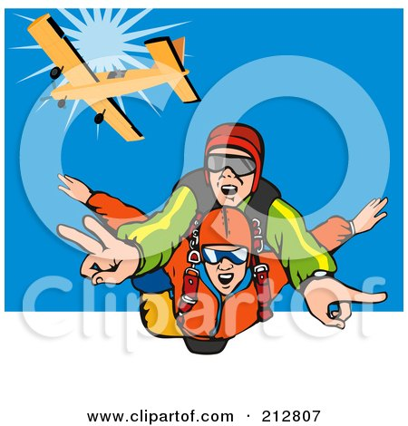 Royalty-Free (RF) Skydiving Clipart, Illustrations, Vector Graphics #2