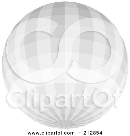 Royalty-Free (RF) Clipart Illustration of a Light Gray Disco Ball by dero
