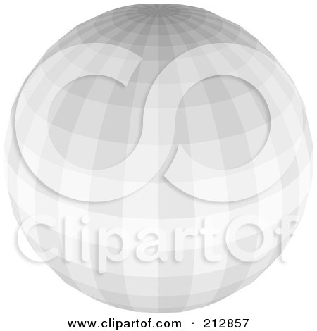 Royalty-Free (RF) Clipart Illustration of a Gray Disco Ball by dero