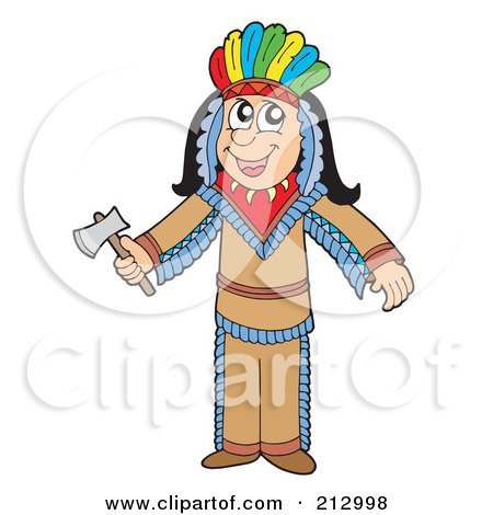 Royalty-Free (RF) Clipart Illustration of a Male Apache Native American Man by visekart