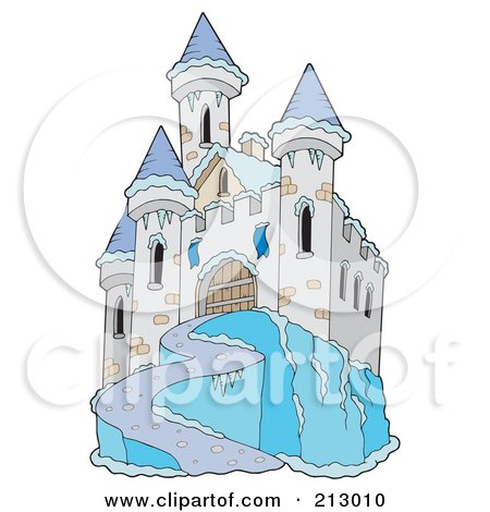 Royalty-Free (RF) Clipart Illustration of an Icy Castle by visekart