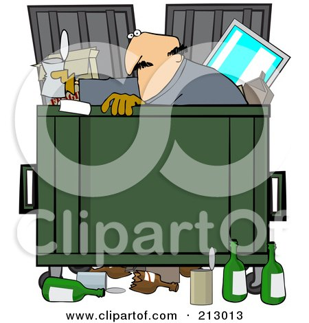 royalty free  rf  clipart illustration of a man dumpster dumpster clipart free dumpster fire clipart