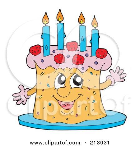 happy birthday cake candles. of a Happy Birthday Cake