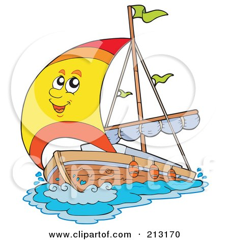 Royalty-Free (RF) Clipart Illustration of a Happy Yacht Character by visekart