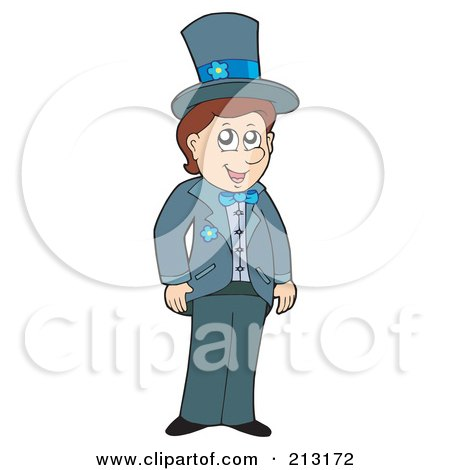 Royalty-Free (RF) Clipart Illustration of a Happy Groom by visekart