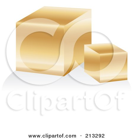 Royalty-Free (RF) Clipart Illustration of a Golden Bar Icon by Alexia Lougiaki