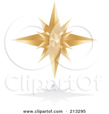 Royalty Free Rf Clipart Illustration Of A Golden Star Icon By
