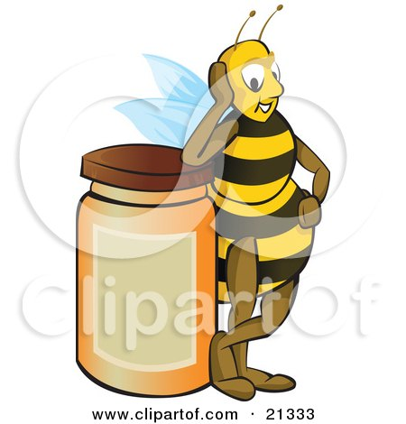 Royalty-Free (RF) Clipart Illustration of a Swarm Of Killer Bees ...
