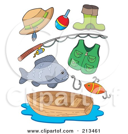Clipart man holding his catch on a fishing pole royalty for Free fishing stuff
