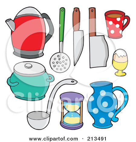 Royalty Free Rf Clipart Illustration Of A Digital Collage Of Kitchen Items 2 By Visekart 213491