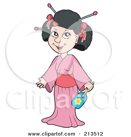 Royalty Free Rf Clipart Illustration Of A Pretty Geisha