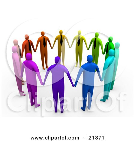 Clipart Illustration Of A Group Of Colorful And Diverse