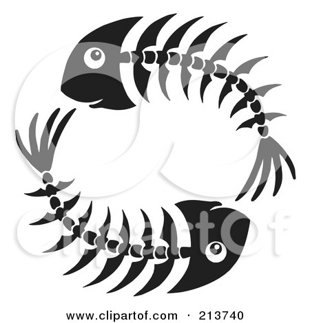 Royalty-Free (RF) Clipart of Fishbones, Illustrations, Vector ...