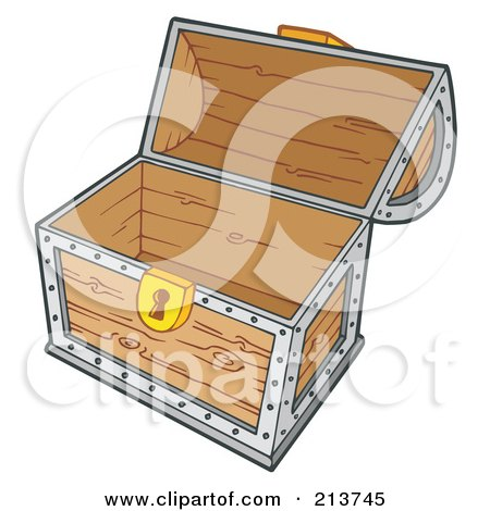 royalty free rf clipart illustration of a open empty treasure chest by visekart 213745