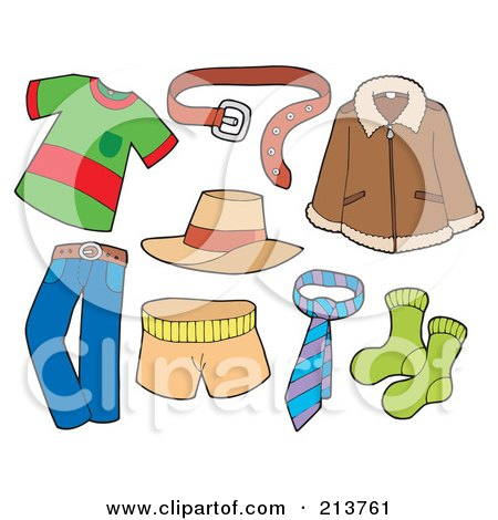 Royalty Free Illustrations of Clothes by visekart #1