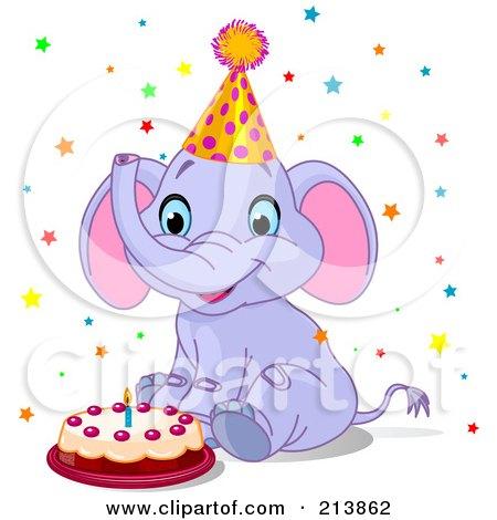 Royalty Free Birthday Cake Illustrations by Pushkin Page 1