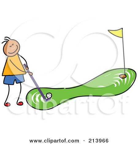 213966-Royalty-Free-RF-Clipart-Illustration-Of-A-Childs-Sketch-Of-A-Boy-Golfing.jpg
